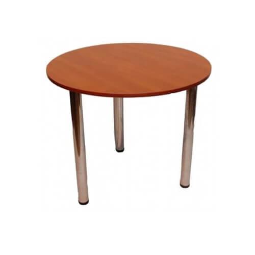 Стол круглый на хром ножках, 90 см