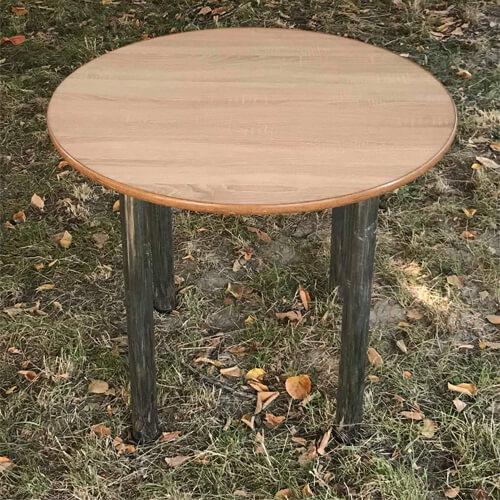 Фото - 2 Стол круглый на хром ножках, 90 см