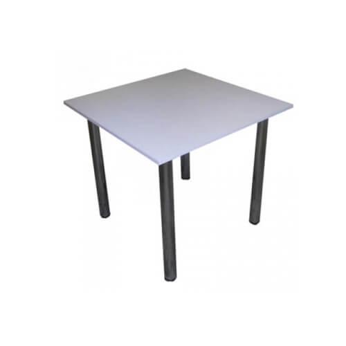 Фото - Стол на хром ножках, серый 80×80