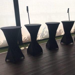 Фото - 3 Стол коктейльный с черным чехлом