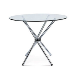 Фото - 1 Журнальний скляний стіл, круглий