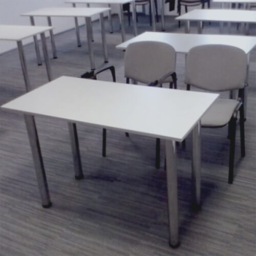 Фото - 2 Стол на хром ножках 120х60, серый