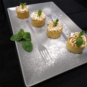 Фото - 3 Сервіровочне блюдо, сіре 35*23 см