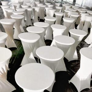 Фото - 3 Барний стіл з білим чохлом