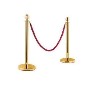 Золотистый столбик с плетенным канатом