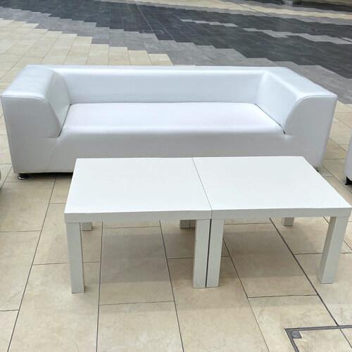 Фото - 2 Журнальний столик білий, квадратний