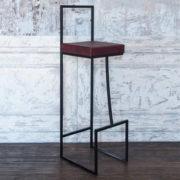 Фото - 6 LOFT барный стул бордовый