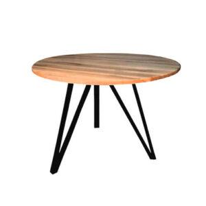 """Фото - 1 Дерев'яний стіл """"Zero"""", d 100 см"""