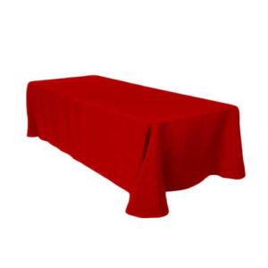 Фото - 1 Скатертина прямокутна, червона 150х250 см