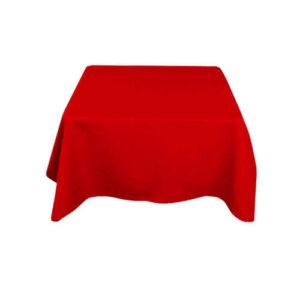 Фото - 1 Скатерть квадратная, красная 150х150 см