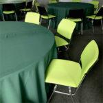Фото - 4 Скатерть круглая, зеленая d 330 см