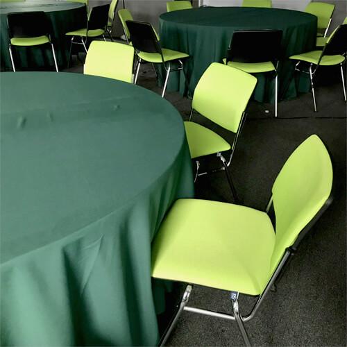 Фото - 2 Скатерть круглая, зеленая d 330 см