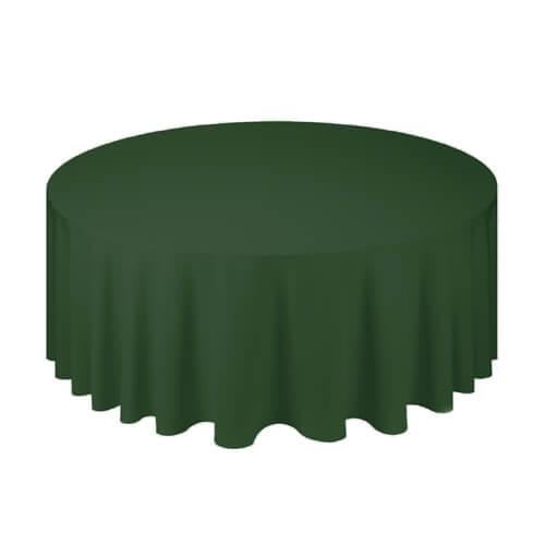 Скатерть круглая, зеленая