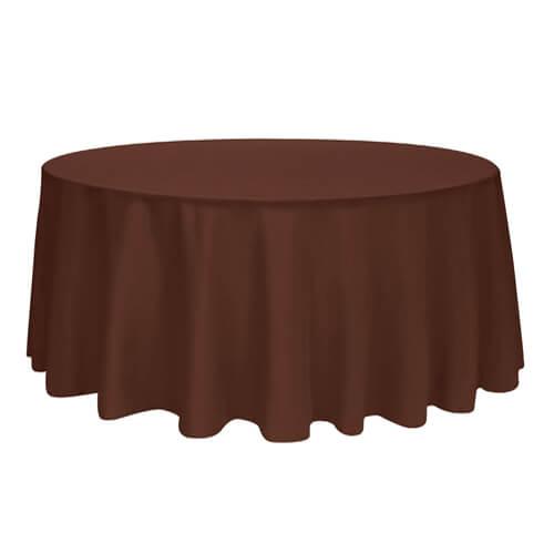 Скатерть круглая, коричневая