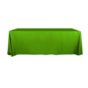 Фото - 1 Скатертина прямокутна, салатова 150х400 см