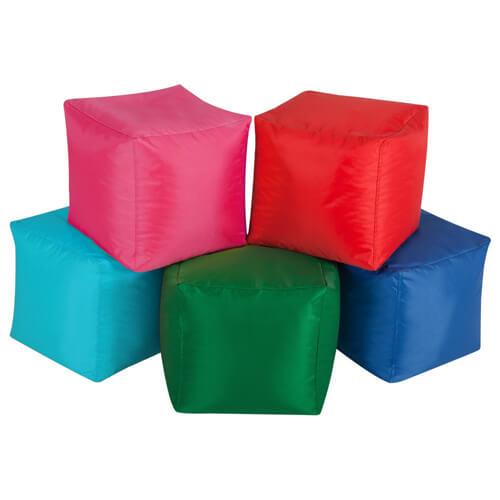 Пуфы-кубики (разноцветные)