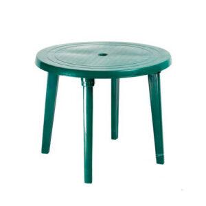 Стол пластиковый, круглый (зеленый)