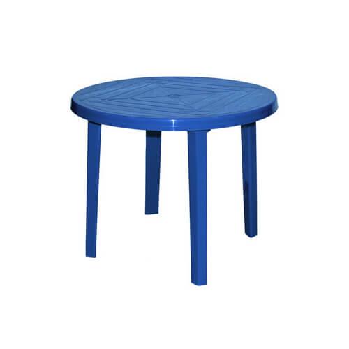 Стол пластиковый, круглый (синий)