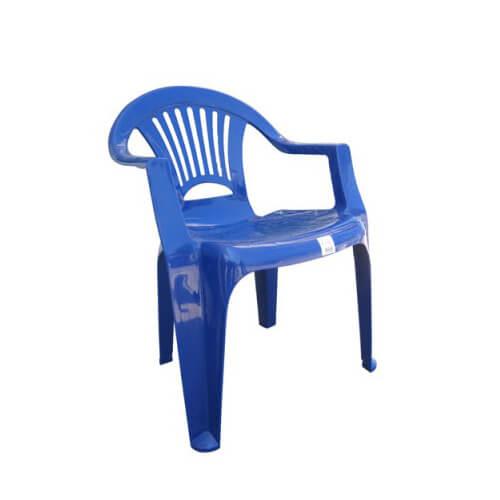 Стул пластиковый (синий)