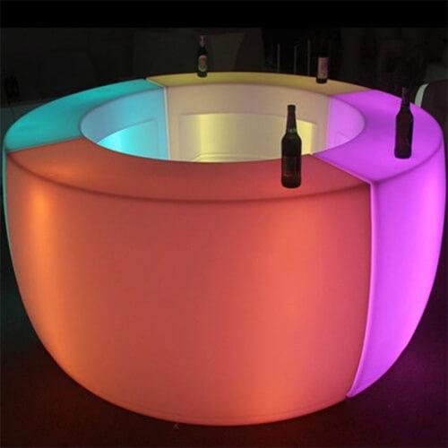 Фото - 2 LED кругова барна стійка