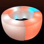 LED круговая барная стойка