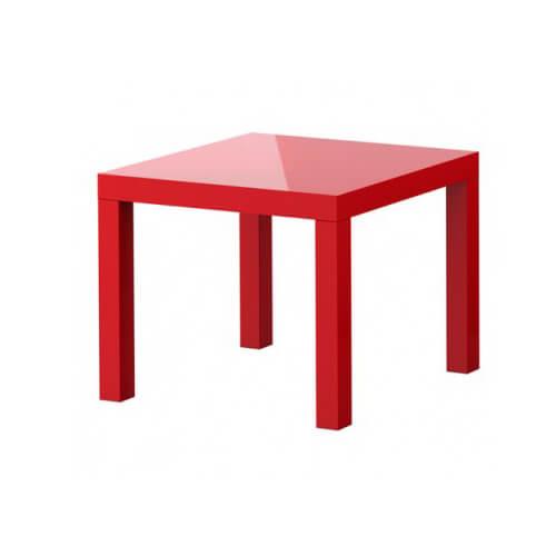 Журнальный столик красный