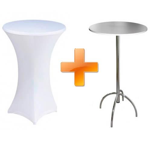 Фото - 1 Барный стол с белым чехлом