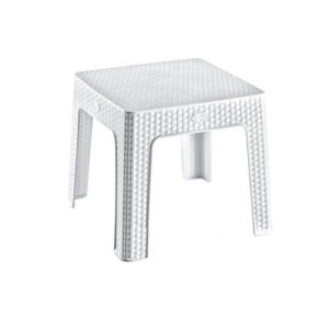 Фото - 1 Ротанговый журнальный столик, белый