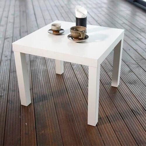 Фото - 13 Журнальний столик білий, квадратний