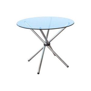 Фото - 3 Журнальний скляний стіл, круглий