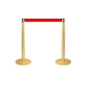 Золотистый столбик с красной лентой