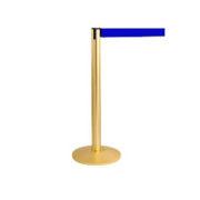 Золотистый столбик с синей лентой