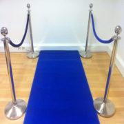 Фото - 6 Хромированный столбик с синим канатом