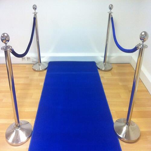 Фото - 3 Хромированный столбик с синим канатом