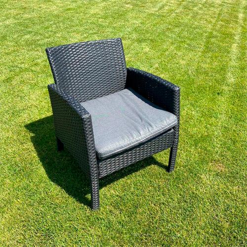 """Фото - 2 Крісло з плетеного ротанга """"Diva black"""""""