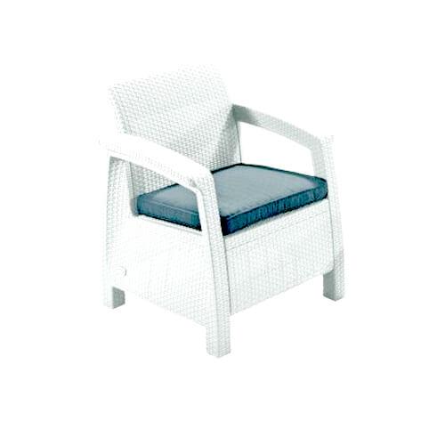 """Фото - Кресло из плетеного ротанга """"Diva white"""""""