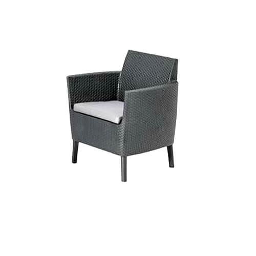 """Фото - 1 Крісло з плетеного ротанга """"Diva black"""""""