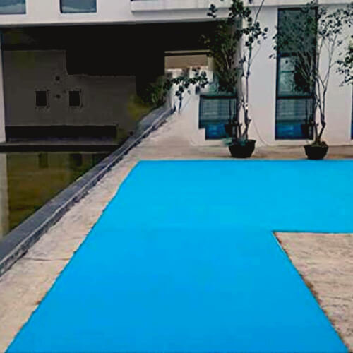 Фото - 2 Голубой выставочный ковролин
