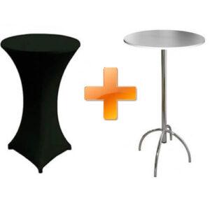 Фото - 1 Барный стол с черным чехлом