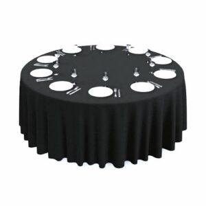 Фото - 1 Скатертина кругла, чорна d 330 см