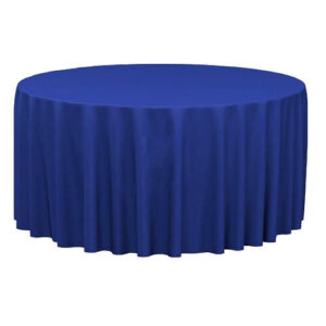 Фото - 1 Скатерть круглая, синяя d 330 см