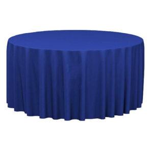 Фото - 1 Скатертина кругла, синя d 330 см
