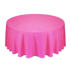 Фото - 1 Скатертина кругла, рожева d 330 см