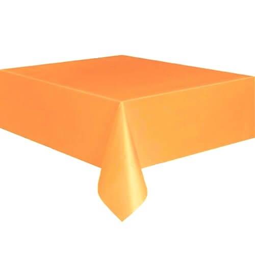 Фото - Скатерть квадрантная, оранжевая  220х220 см