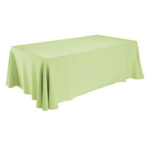 Фото - 1 Скатерть прямоугольная, салатовая 150х400 см