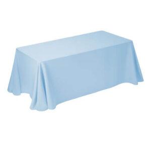 Фото - 1 Скатертина прямокутна, блакитна 150х250 см