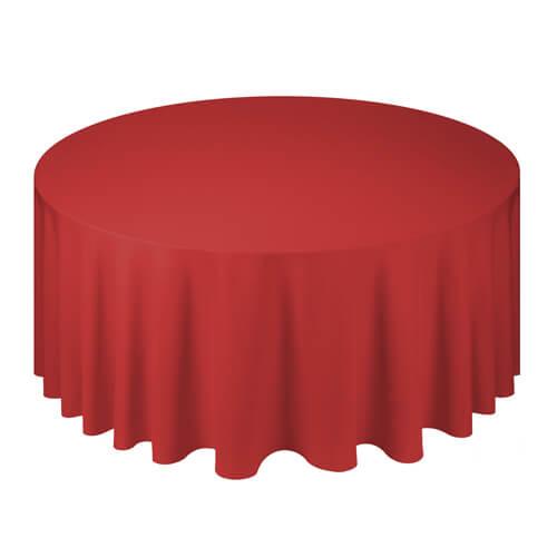 Фото - Скатерть круглая, красная d 330 см