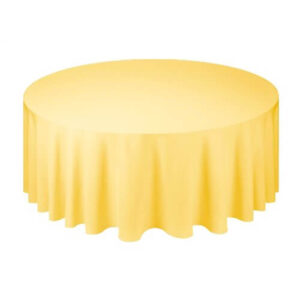 Фото - 1 Скатерть круглая, желтая d 330 см