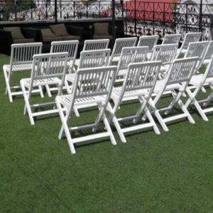 Фото - 3 Складаний стілець Meranti, білий