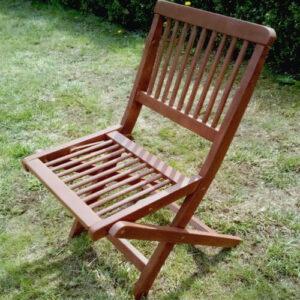 Фото - 3 Складаний стілець Meranti, коричневий